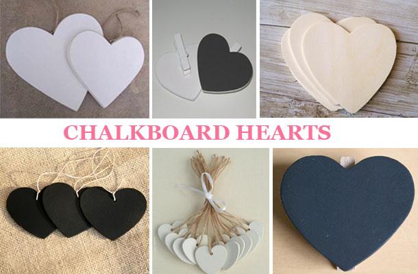We love Chalkboard Heart Favours (Giveaway)