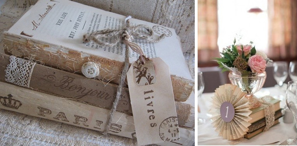 Vintage wedding and event decor for hire in cape town for Antique books for decoration