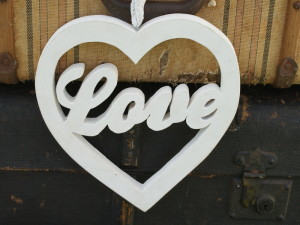 wooden love heart
