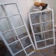 Window frame seating chart - Quirky Parties