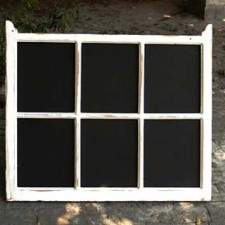 Framed-blackboard- window frame - seating