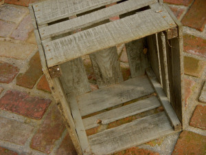 Large rustic crates