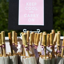 Hire white wedding parasols Quirky Parties