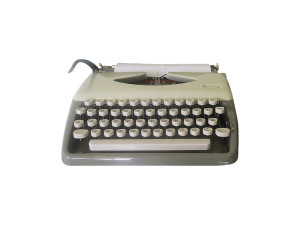 Quirky Parties - Vintage retro typewriter - front view