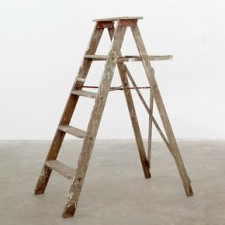 rustic wooden ladder wedding decor
