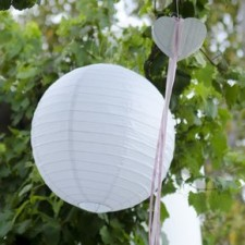 White paper lanterns - Quirky Parties