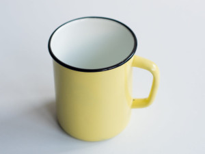 Enamel tin mugs