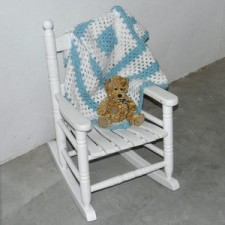 Childrens white rocking chair