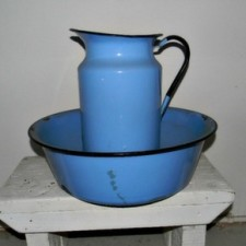 enamel jug and basin