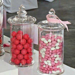 Cylinder candy jar with lid
