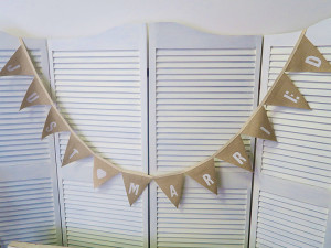 Quirky Parties - Just married bunting