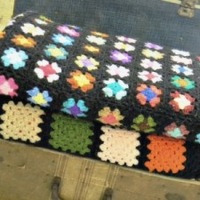 Vintage retro crochet blanket