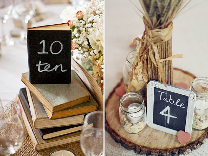 9 Elegant Table Number Ideas
