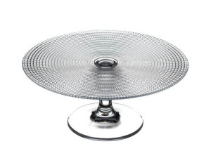 Clear glass cake stand