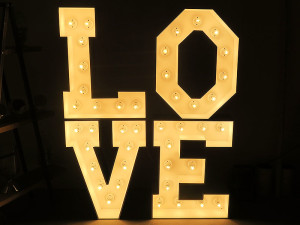 Quirky Parties Marquee Love Lights