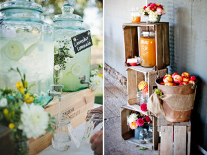 Quirky Parties Rustic Crate Drinks Station
