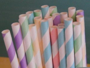 Striped paper straws