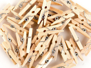 Natural mini pegs