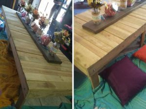 Rustic Wood picnic tables